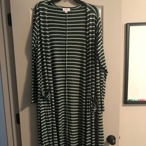 LuLaRoe Sarah Cardigan Large Duster Mint Green
